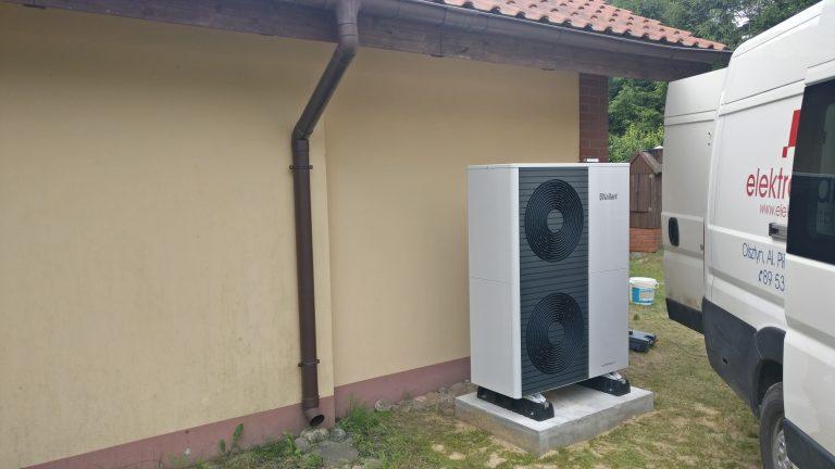 Budynek mieszkalny w Ługwałdzie powietrzna pompa ciepła
